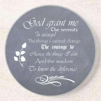 Serenity Prayer Chalkboard Gifts - trendy vintage Coasters