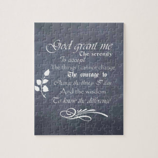 Serenity Prayer Chalkboard Gifts - trendy vintage Jigsaw Puzzle