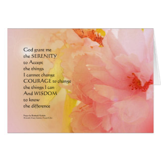 Serenity Prayer Cherry Blossom Glow Card