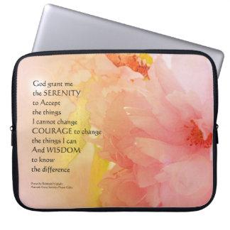 Serenity Prayer Cherry Blossom Glow Computer Sleeve