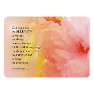 Serenity Prayer Cherry Blossom Glow Large Business Card