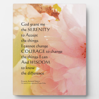 Serenity Prayer Cherry Blossom Glow Plaque