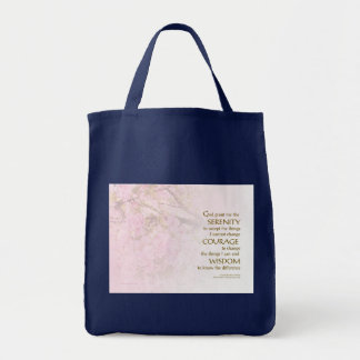 Serenity Prayer Cherry Blossoms Tote Bags