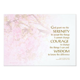 Serenity Prayer Cherry Blossoms Card
