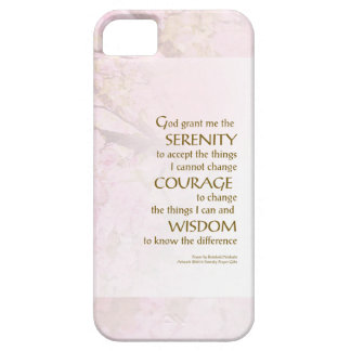 Serenity Prayer Cherry Blossoms iPhone 5 Cover