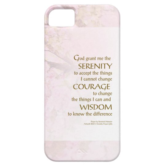 Serenity Prayer Cherry Blossoms iPhone SE/5/5s Case