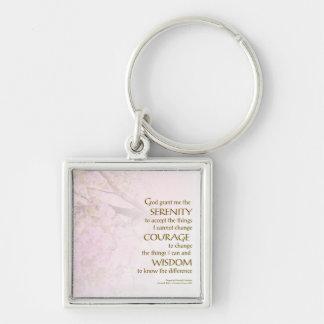 Serenity Prayer Cherry Blossoms Key Chain