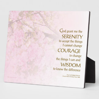 Serenity Prayer Cherry Blossoms Plaque