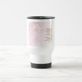 Serenity Prayer Cherry Blossoms Travel Mug