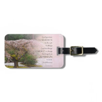 Serenity Prayer Cherry Tree One Bag Tag