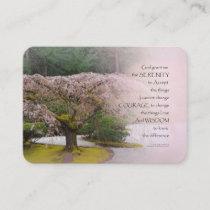 Serenity Prayer Cherry Tree One Business Card
