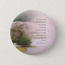 Serenity Prayer Cherry Tree One Button