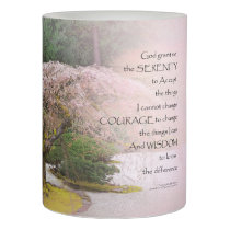 Serenity Prayer Cherry Tree One Flameless Candle