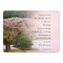 Serenity Prayer Cherry Tree One Invitation