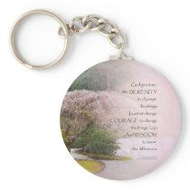 Serenity Prayer Cherry Tree One Keychain