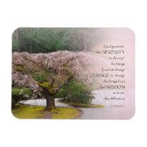 Serenity Prayer Cherry Tree One Magnet