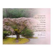 Serenity Prayer Cherry Tree One Postcard