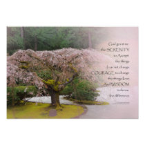 Serenity Prayer Cherry Tree One Poster