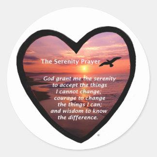 Serenity Prayer Classic Round Sticker
