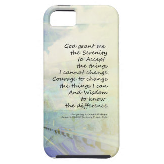 Serenity Prayer Clouds and Highway iPhone SE/5/5s Case