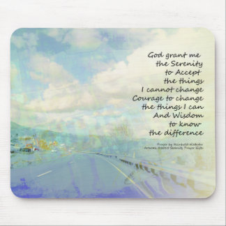 Serenity Prayer Clouds and Highway Mouse Pad