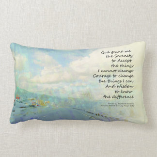 Serenity Prayer Clouds and Highway Pillows