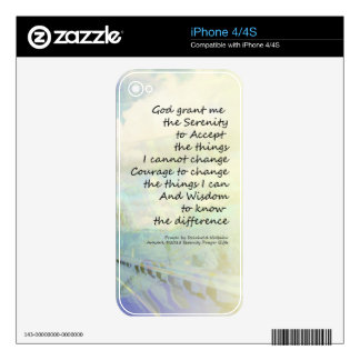 Serenity Prayer Clouds and Highway Decals For The iPhone 4S