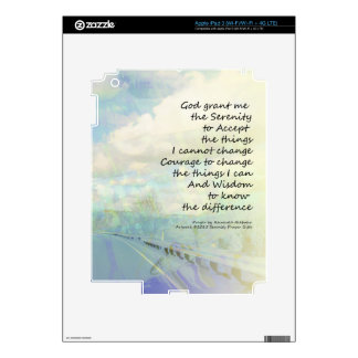 Serenity Prayer Clouds and Highway Skins For iPad 3