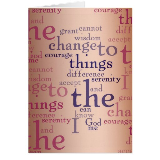 Serenity Prayer Collage Card