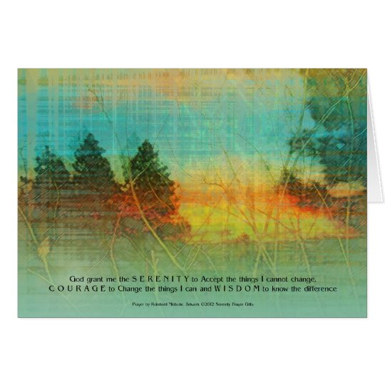 Serenity Prayer Colorful Trees Card