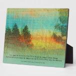 Serenity Prayer Colorful Trees Plaque