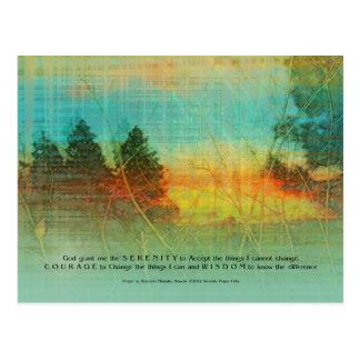 Serenity Prayer Colorful Trees Postcard