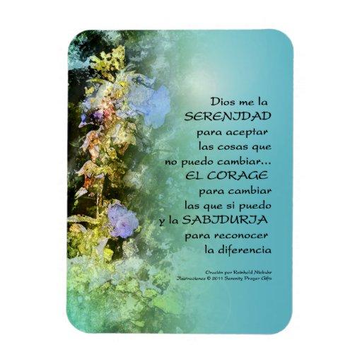 Serenity Prayer Companulas Spanish Vinyl Magnet
