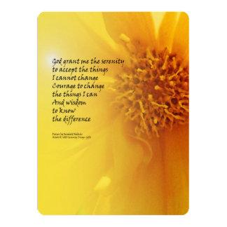 "Serenity Prayer Coreopsis 6.5"" X 8.75"" Invitation Card"