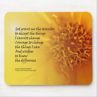 Serenity Prayer Coreopsis Mouse Pad