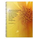 Serenity Prayer Coreopsis Spiral Notebooks