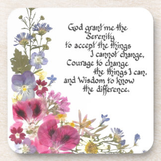 Serenity Prayer Beverage Coaster