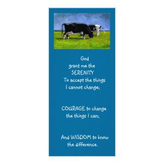 SERENITY PRAYER: COWS: ART, PAINTING RACK CARD