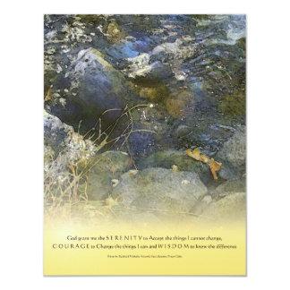 "Serenity Prayer Creek and Rocks Invitation 4.25"" X 5.5"" Invitation Card"