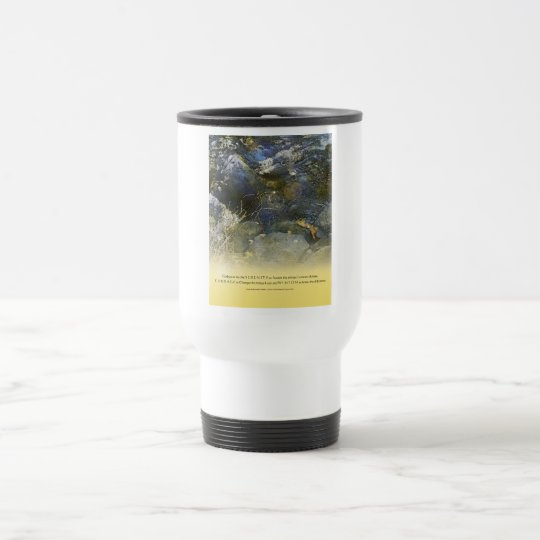 Serenity Prayer Creek and Rocks Travel Mug