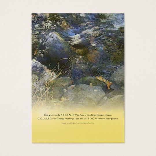 Serenity Prayer Creek & Rocks Business Card