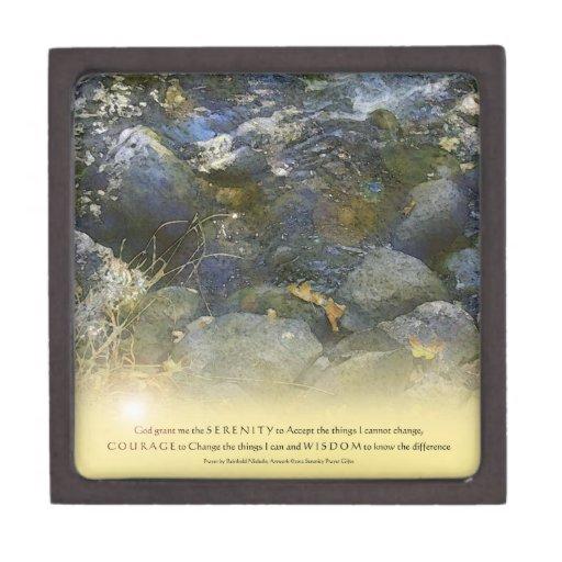 Serenity Prayer Creek Rocks Premium Gift Box