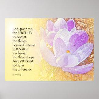 Serenity Prayer Crocus 2 Poster