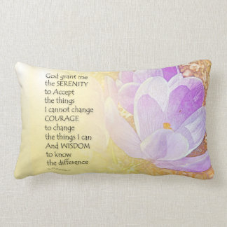 Serenity Prayer Crocus 2 Throw Pillows