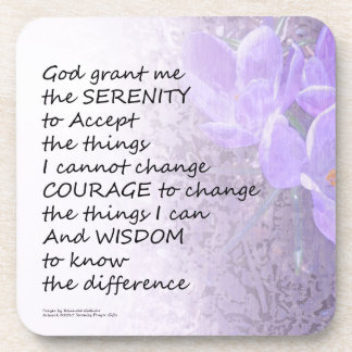 Serenity Prayer Crocus Drink Coasters