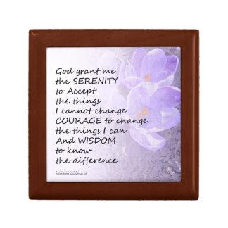 Serenity Prayer Crocus Gift Box