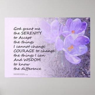 Serenity Prayer Crocus Poster