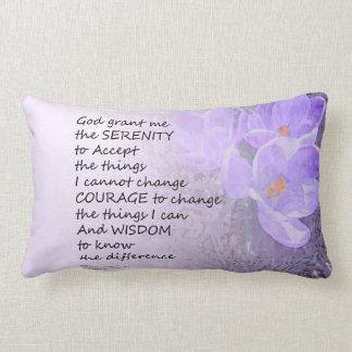 Serenity Prayer Crocus Throw Pillows