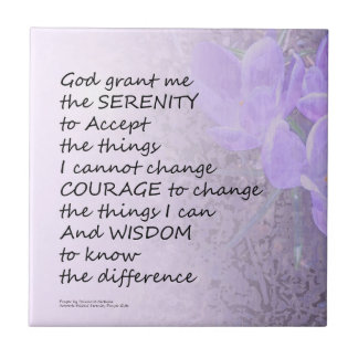 Serenity Prayer Crocus Tile