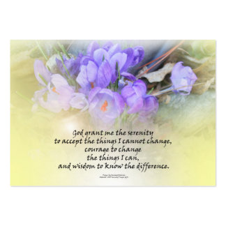 Serenity Prayer Crocus Yellow Glow Large Business Cards (Pack Of 100)
